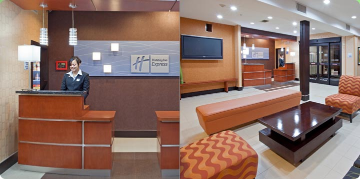 Arlington Texas Hotel Holiday Inn Express Hotel and Suites Front Desk Lobby